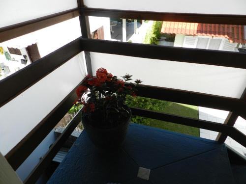 A balcony or terrace at Residencial Pontal do Jurerê