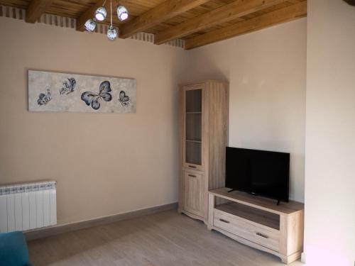 Una televisión o centro de entretenimiento en Apartamentos La Fabrica