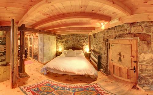 Cama o camas de una habitación en Cabañas con Encanto
