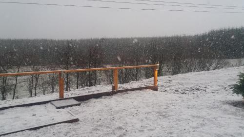 Lochinvar Log Cabin during the winter