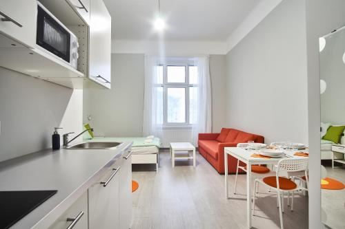 A kitchen or kitchenette at HILD-2 Apartments | Budapest