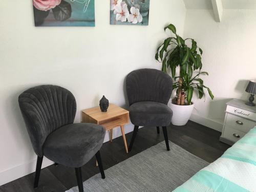 Een zitgedeelte bij Villa Zandvoort