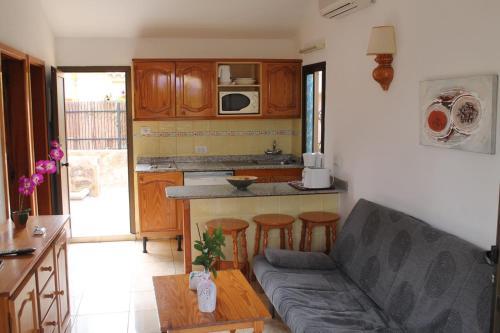 Een keuken of kitchenette bij Santa Fé Bungalow