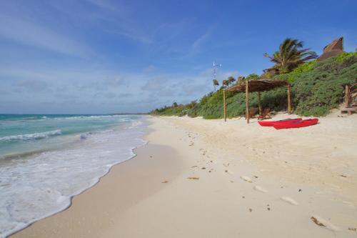 A beach at or near the villa