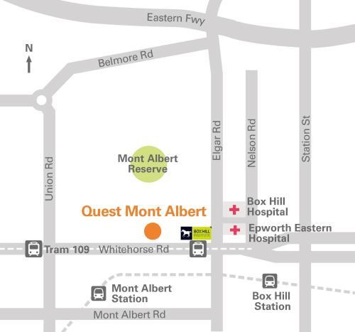 A bird's-eye view of Quest Mont Albert