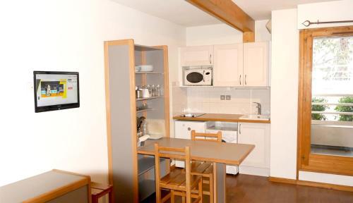 A kitchen or kitchenette at Le Grand Chalet - Le Studio