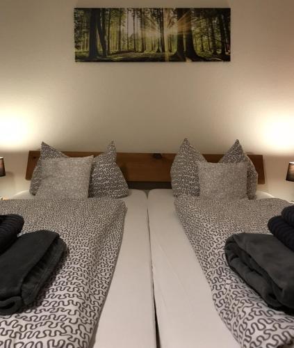 Ein Bett oder Betten in einem Zimmer der Unterkunft Hostel Ziegenrück