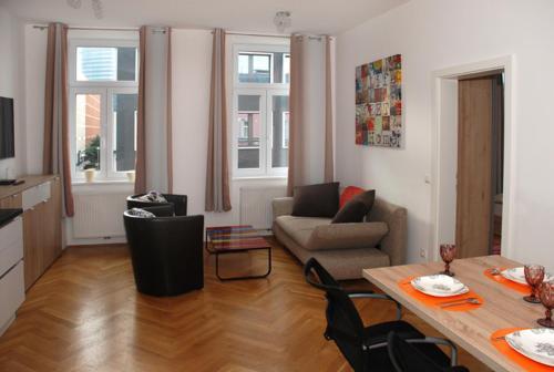 Zona de estar de The Barts Apartments