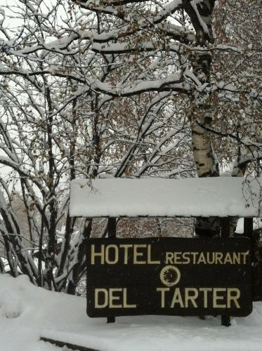 Hotel del Tarter during the winter