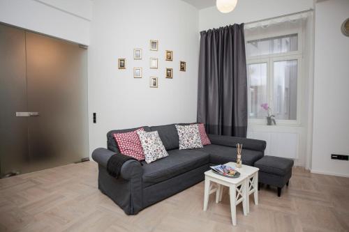 Część wypoczynkowa w obiekcie Luxury apartment Spálená