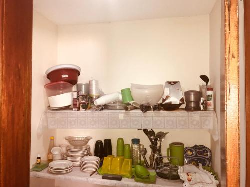 Kitchen o kitchenette sa Casa Em Praia Azul