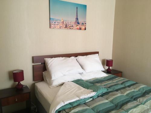 Cama o camas de una habitación en Departamentos MyC