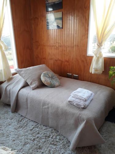 Cama o camas de una habitación en Depto. Altos de Tenglo