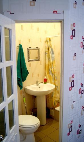 A bathroom at Hostel Vybor