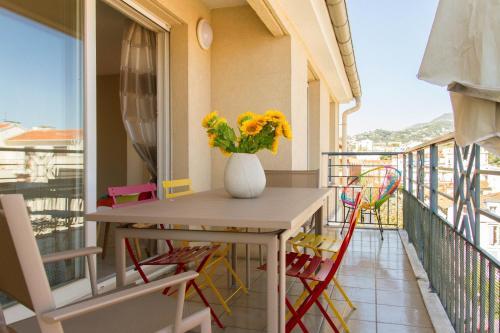 Uma varanda ou terraço em Bohemian Chic