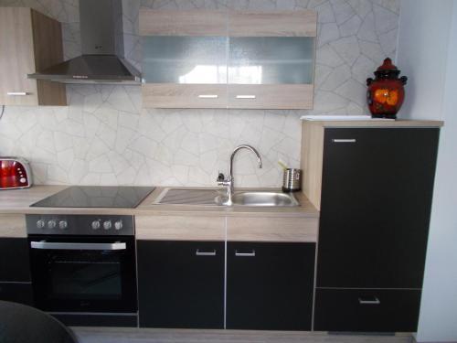 Küche/Küchenzeile in der Unterkunft Ferienwohnung Hoffmann