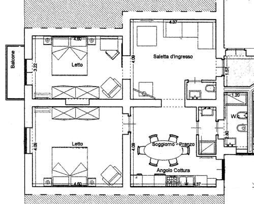 The floor plan of KMC suites - Purple