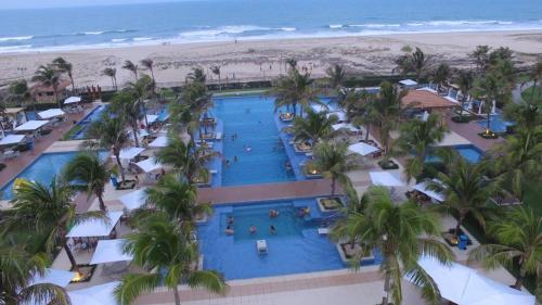 Výhled na bazén z ubytování Mandara Lanai nebo okolí