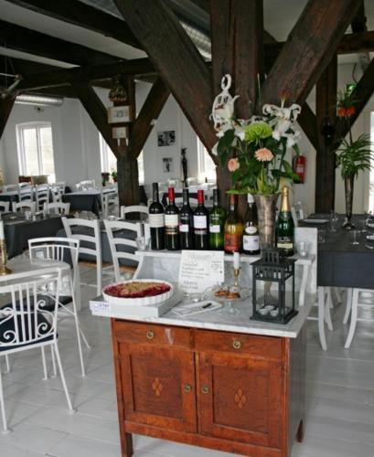 En restaurang eller annat matställe på Abbekås hotell & hamnkrog