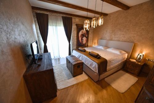 Postel nebo postele na pokoji v ubytování Villa Dub