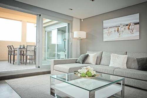 A seating area at Luxury penthouse in the center of Valencia