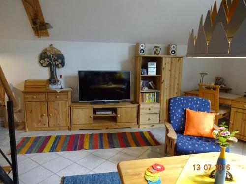 TV/Unterhaltungsangebot in der Unterkunft Ferienwohnung Hermannstein