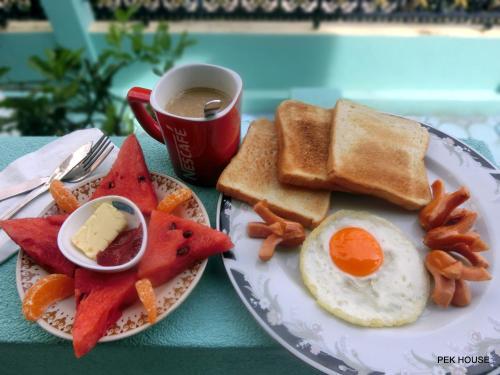 Frühstücksoptionen für Gäste der Unterkunft Pek House