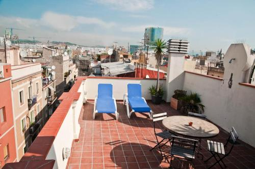 Балкон или тераса в Barceloneta Apartments Beach