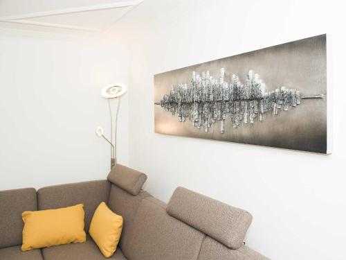 Ein Sitzbereich in der Unterkunft Ferienwohnung - Bergblick - Vandans