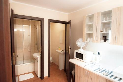 A bathroom at Apartamenty na Dębcu