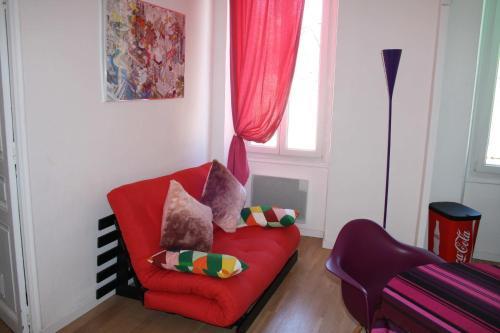 Een zitgedeelte bij Casa Ammirati Apartments
