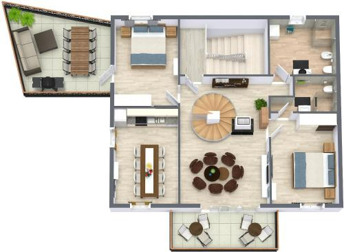 The floor plan of Hvar-Holiday Apartments