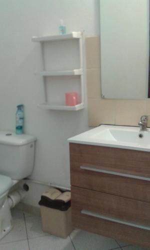 A bathroom at Appartement Villegiature