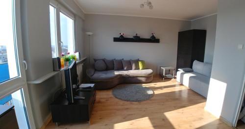 A seating area at Apartament u Teofila