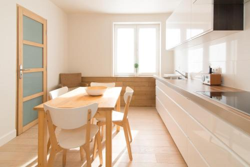 Duplexにあるキッチンまたは簡易キッチン
