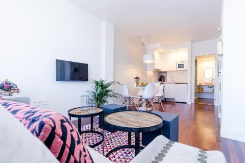 Zona de estar de Livemalaga Boutique Apartments