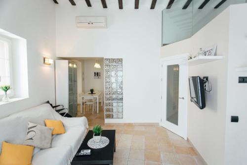 A seating area at Triplex con Terraza Celinda