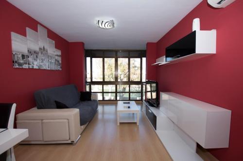 Een zitgedeelte bij My Apartments - Torres de Serranos