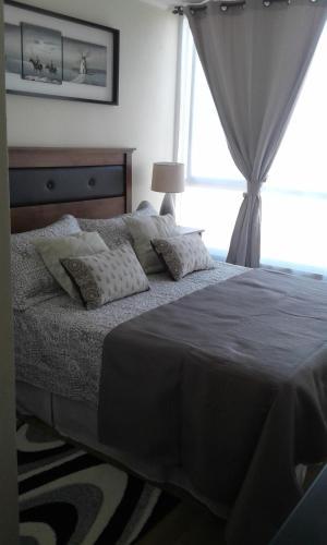 Cama o camas de una habitación en El Shadday