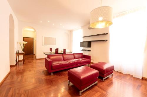A seating area at Heart Milan Apartments Corso Como