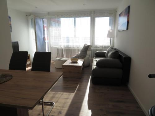 Ein Sitzbereich in der Unterkunft Apartment Sbg Hbf (127)