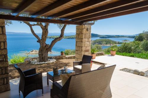 A balcony or terrace at Nissi View Villa