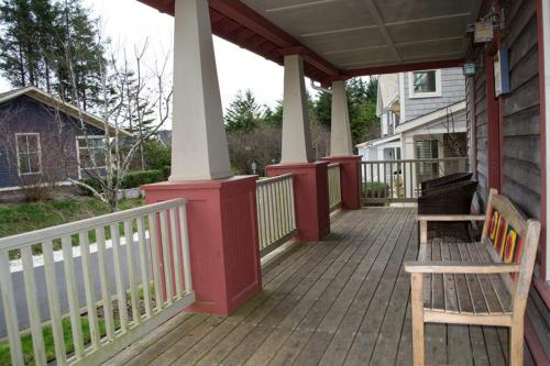 A balcony or terrace at Family Tides Four-Bedroom Home