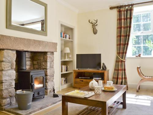 A television and/or entertainment center at Curlew Cottage
