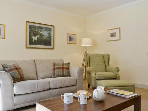 A seating area at Curlew Cottage