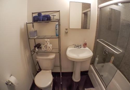 A bathroom at New York Apartments