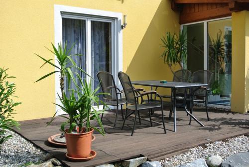 Патио или другая зона на открытом воздухе в Appartement und Ferienhaus Walzl