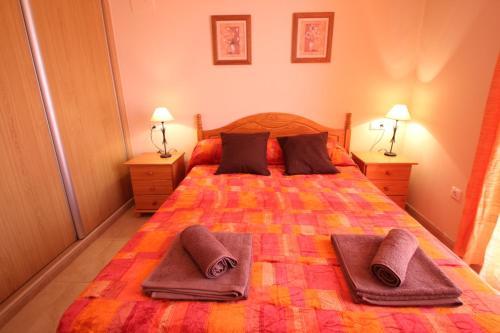 Cama o camas de una habitación en El Balcon Guadalest