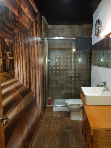 A bathroom at Mirador Central