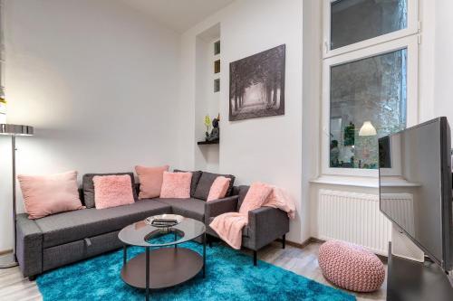 Ein Sitzbereich in der Unterkunft Palace Residence